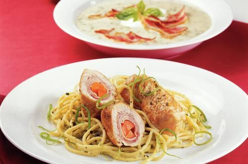 Knorr - Puten-Limettentascherl mit Knoblauch-Kräuter Spaghetti