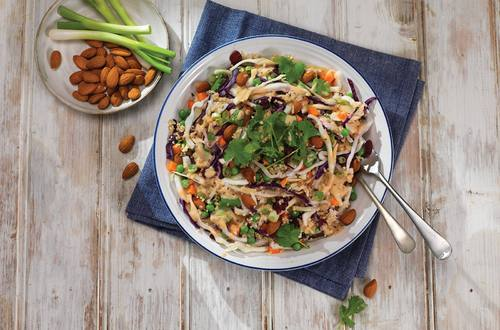 Crunchy Cabbage & Carrot Quinoa Salad