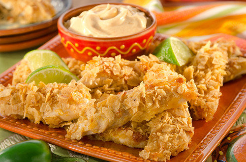 Chipotle-Lime Crusted Chicken Tenders