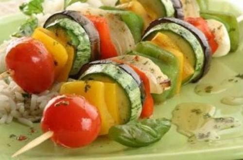 Brochette de verduras