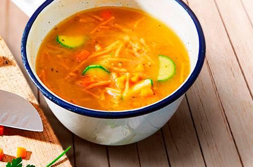 Sopa Fideos Naranja