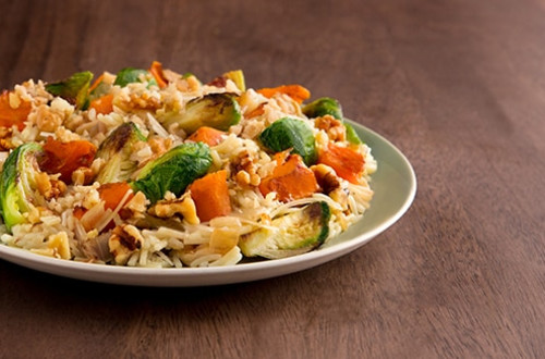 Butternut Squash and Brussels Sprouts Rice