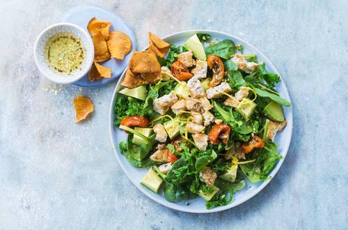 Spinat-Grünkohl-Salat
