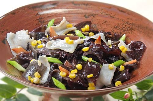 玉米木耳炒鮮魚片