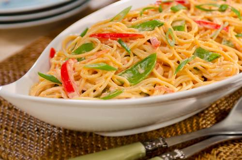Spicy Asian Noodle & Vegetable Salad