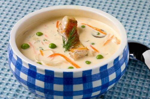 Сливочно-рыбный суп