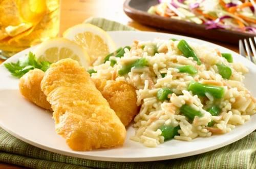 Crunchy Cape Cod Fish & Rice Dinner