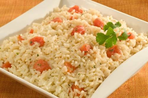 Cilantro Rice with Tomatoes