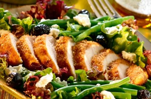 Onion-Crusted Chicken with South of France Salad
