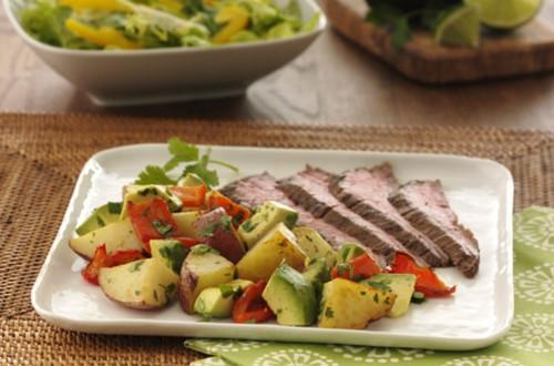 Salade d'Avocats et de Pommes de Terre Rôties