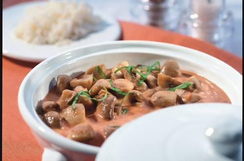 Knorr - Pilze in Tomatensahne