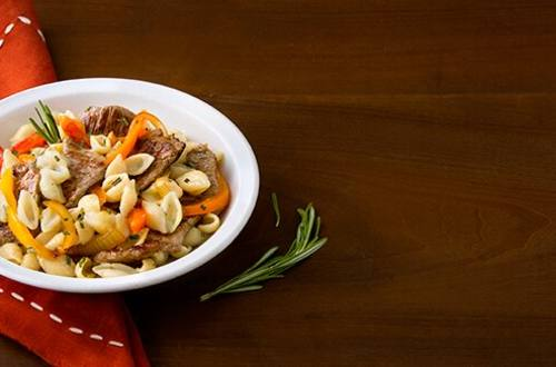 Rosemary Pepper Steak Pasta