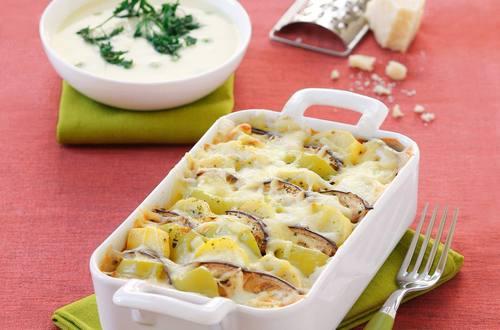 Knorr - Paprika-Melanzani-Kartoffel-Auflauf mit Faschiertem