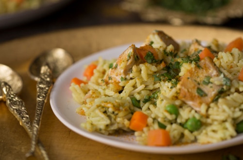 Quick Curried Chicken with Rice