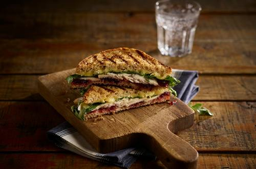 Grilled Turkey, Brie & Cranberry Sandwich
