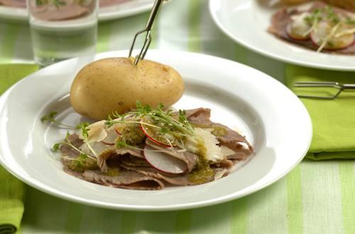 Carpaccio de bouilli Ausschnitt