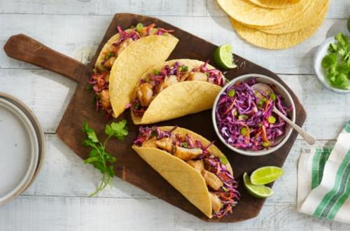Tacos au poisson et à la salade de chou