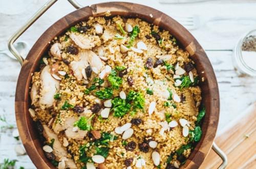 Poulet au Cari avec Couscous de Légumes