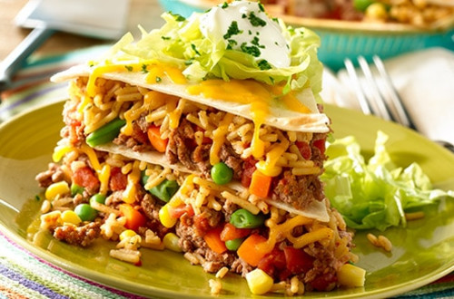Beefy Vegetable Taco Pie