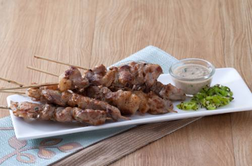 Grilled Pork Skewers with Green Chili Recipe