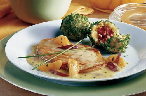 Knorr - Wachauer Riesling-Schnitzel mit Marillen-Cremesauce