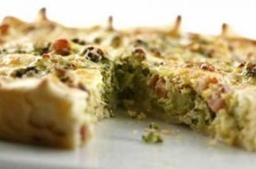 Tarta de brócoli y jamón