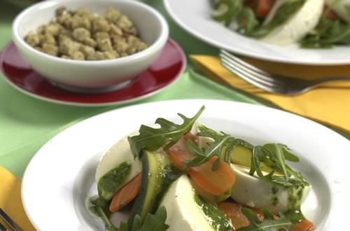 Salade de légumes à mozzarella