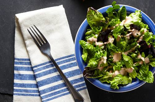 Trisha's Spring Mix Salad With Easy Thousand Island Dressing