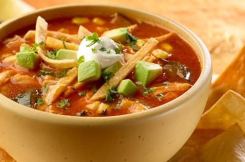Chicken & Roasted Vegetable Tortilla Soup