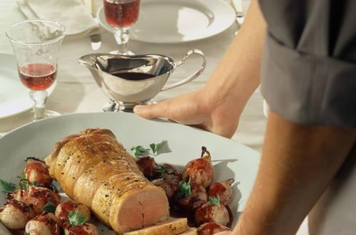 Knorr - Lammrücken mit Rotweinzwiebeln