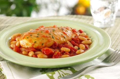 Tuscan Chicken with White Beans