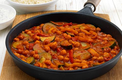 Pittige couscous met tofu en groenten