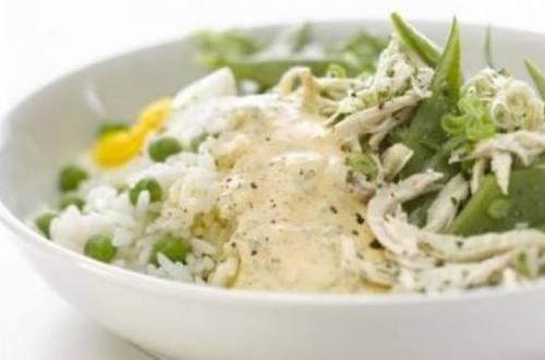 Salpicón de ave con arroz tibio