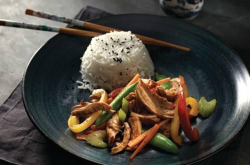 Simple Tea-Poached Chicken & Vegetable Stir-Fry