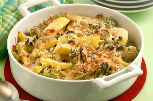 Gemüse-Gratin mit Käse-Brösel Ausschnitt