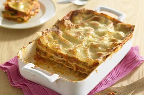 Knorr - Lasagne mit Zucchini, Tomaten und Mozzarella