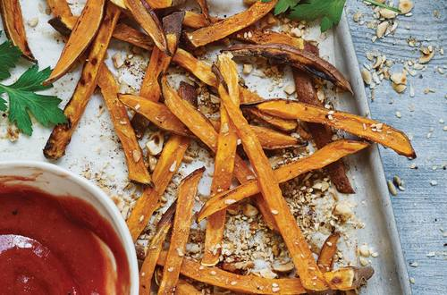Sweet Potato Fries with Hellmann's® or Best Foods® REAL Ketchup