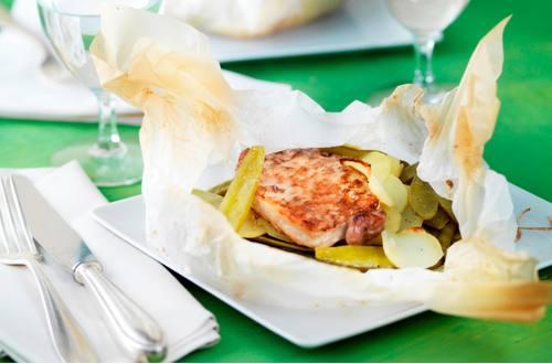 Steak en papillote Ausschnitt