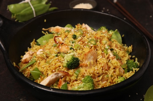 Garlic Sesame Rice with Chicken