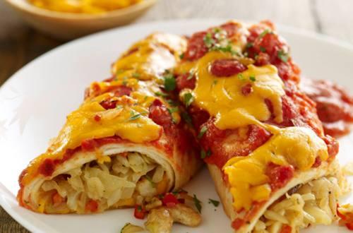 Enchilada's met kaas en groenten