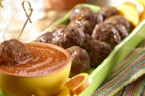 Albóndigas con Salsa de Guayaba