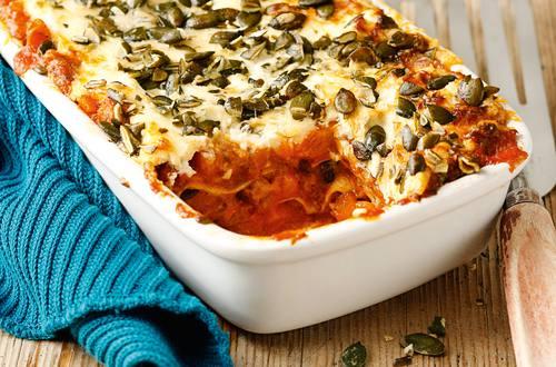 Kuerbis-Lasagne