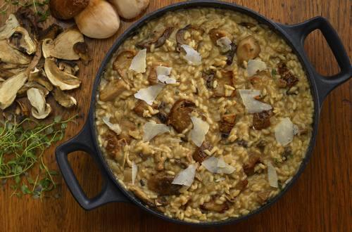 gluten free mushroom risotto