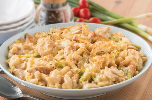 Chicken Macaroni with Creamed Corn & Spring Onion