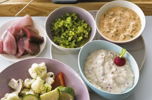 Knorr - Fondue mit Dips