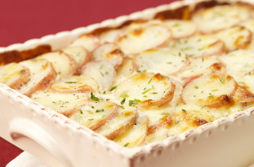 Parmesan-Chive Potato Bake