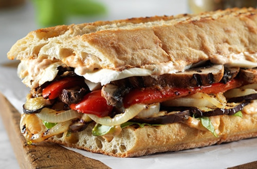 Parma-Rosa Grilled Vegetable Sandwiches