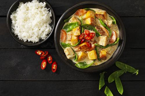 Pumpkin, Tofu & Snow Pea Curry