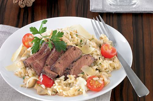 Knorr - Champignon-Risotto mit Rinderfilet