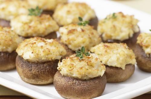 Crab-Stuffed Mushrooms